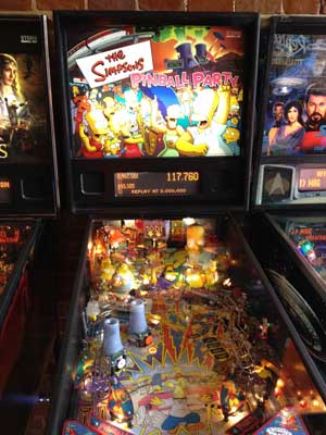 the simpsons pinball machine